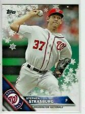 2016 Topps Holiday Snowflake #HWM134 STEPHEN STRASBURG Washington Nationals