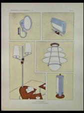 MAURICE MATET, LUMINAIRES ART DECO - 1929 - POCHOIR,