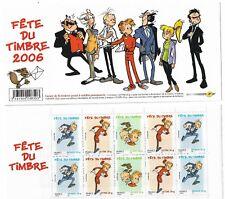 France Bande Carnet BC3877Ba Fete du Timbre Spirou  2006 Neuf non plié