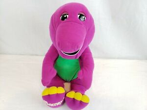 "16"" Barney Plush Dinosaur Talking Interactive Vtg 90s Stuffed Animal Toy"