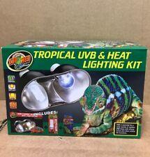 New listing Zoo Med Tropical Uvb Heat Lighting Kit