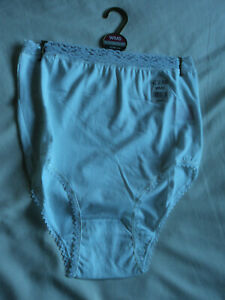 Ladies deep white knickers in 2 sizes 12-16  16-20