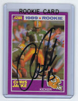 1989 PACKERS Chris Jacke signed Rookie Card Score #424 AUTO Autographed Suppleme