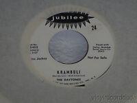 "THE DAYTONES Krambuli/Bless My Love 7"" 45 Jubilee 45-5452 VG+ WLP vinyl"