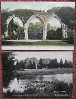 2x Early 1900's Beaulieu Abbey Vintage Postcard Hampshire New Forest F Copeland