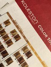 Wella Color Koleston Haircolor Instruction Sheet Color Chart insert
