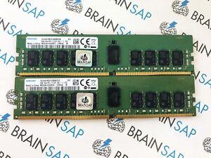 16GB (2x 8GB) DDR4-2133 Samsung M393A1G40EB1-CPB RDIMM ECC - PC4-2133P-RC1-11-P2