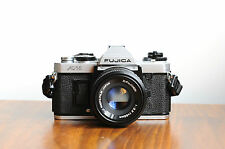 FUJICA AX-1  35mm SLR Camera  w/ X-Fujinon 55mm Lens  * Good Condition* Fujifilm