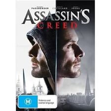 ASSASIN'S CREED-DVD-Michael Fassbender-Region 4-New AND Sealed