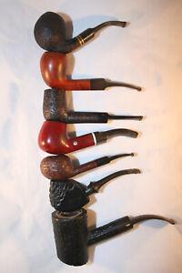 Pfeifensammlung 7 Markenpfeifen Stanwell,Lorenzo usw  beraucht , Gebrauchsspuren