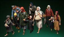 1:35 European Refugees Civilians, Resin Model Kit, 10 Figures, WWII
