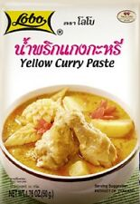 THAI YELLOW CURRY PASTE (KAANG KA REE), SPICY SOUP, THAI LOBO COOKING FOOD, 50G