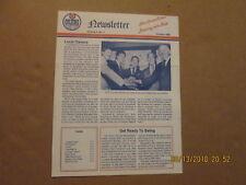 Ahl Nova Scotia Oilers Vintage Defunct October1986 Volume 3,No1. Team Newsletter