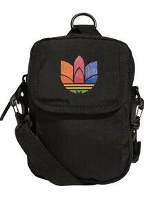 adidas Unisex Originals National Festival Crossbody Bag, Black/Multicolor