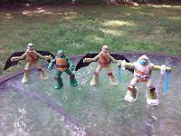 """TMNT Teenage Mutant Ninja Turtles 3.75"""" Action Figure Lot Of 4 McDonalds Toy"""