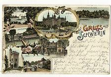 AK Gruss aus Schwerin bootshaus Fähre Restauraion zu Muess 1897