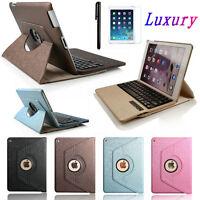 """Boriyuan iPad Air 2/1 PRO 9.7"""" Mini 4 360 Rotate Leather Bluetooth Keyboard Case"""