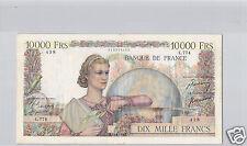 FRANCE 10 000 FRANCS GENIE FRANCAIS 15.6.1950 ALPHABET L.774 PICK 132 C !!!