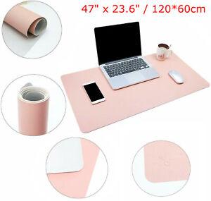Anti-slip PU Leather Office Desk Protector Mat Waterproof Keyboard Mouse Pads