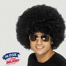 Black Afro Curly Wig Costume Cosplay World Cup Party Fancy Dress