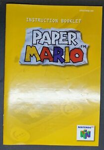 """N64  MANUAL ONLY  :     TITLE   """" PAPER MARIO  """""""