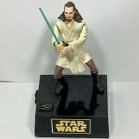 Qui-Gon Jinn Star Wars Collectible 1999 Action Figure Coin Bank Tested Working