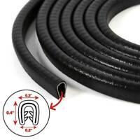 Black 10Ft U-Shape Rubber Seal Car Door Edge Guard Molding Trim Protectors Strip