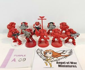 40K Space Marines Tactical Squad Multi-Part 3RD Ed. Era Blood Angels (x10) PA09