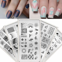 BORN PRETTY Artist Nail Stamping Plates Maple Leaf Animal Image Stencil Template
