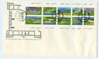 Canada FDC #983-92 Forts Bklt Pane 1983 Wrinkled 73-2