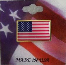 US Flag pin, rectangle shape, brass finding, Made in the USA, patriotic card