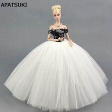 Black White Wedding Dress Clothes for Barbie Doll Clothes for Barbie Dollhouse