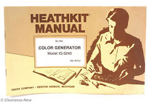 Heathkit Ig-5240 Color Generator Original Assembly Manual 6725