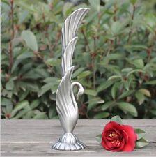 Beautiful Metal Arabian Egyptian Swan Decorative Table Vase Carved Modern Silver