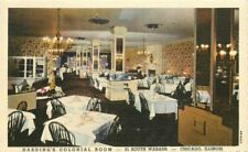 Chicago Illinois Harding's Colonial Room Restaurant Teich 1940s Postcard