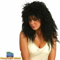 Blonde 80's 1980s Rock Star Crazy Wig Womens Fancy Dress TO CLEAR