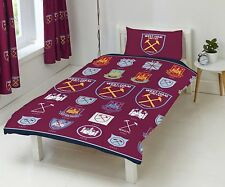 Official West Ham United FC Football Club Single Duvet Cover Bedding Bed Set