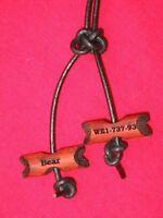 CUSTOM LASER ENGRAVED Africa Paduak Wood Badge Beads 2 Bead