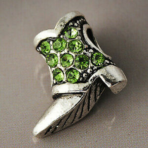 1Pc Silver Shoes Boot Bead Charm Fit Eupropean Chain Bracelet Making Jewelry DIY