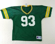 Vintage Champion NFL Green Bay Packers Jersey Shirt #93 Brown sz XL 18-20 youth