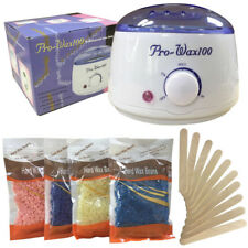 Wax Warmer, Wax Hair Removal Kit + Hard Wax Beans + 10 Wax Applicator Sticks wax
