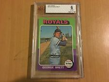 1975 Topps George Brett  RC  #228    BVG Graded  6