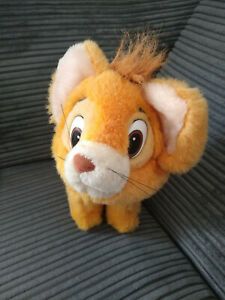 OLIVER FROM AND COMPANY 1988 DISNEY VINTAGE PLUSH SOFT TOY CAT GOOD USED COLLAR