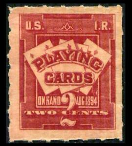 RF1 REVENUE Playing Cards 2c Lake FIRST ISSUE Full Gum MNH Crease PHOTOS K-592