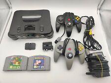 Nintendo N64 Kons. NUS-001 (EUR)(Jumper Pak) + Spielesammlung Super Mario Yoshi