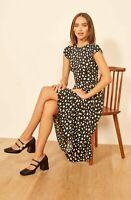 Reformation Rylie Midi Dress Memento 12 NWT $218 Polka Dot