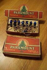 2 Sets Vintage Paramount Indoor Christmas Lights with Cloth String & Display Box