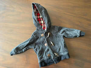Carter's Infant Baby Boy 9 Month Jacket Lined Hooded Knit Sweater Toggle