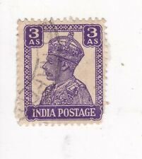 1943 INDIA 3 A.S. KING GEORGE VI STAMP