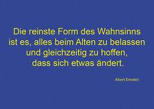 Die reinste Form des Wahnsinns ist es, ... (Albert Einstein) Coole Postkarte